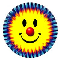 Clown Smiley © Tie Dye Sticker