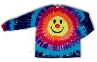 Smiley Clown © Tee Shirt Tie Dye Long Sleeve